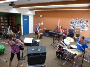 Band practice rock ending